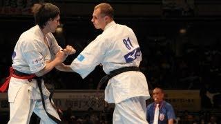 【新極真会】第10回全世界空手道選手権大会 男子2回戦 40 SHINKYOKUSHINKAI KARATE