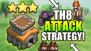 TH8 3 STAR ATTACK STRATEGY 😍| CLASH OF CLANS