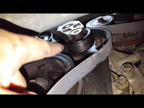 How to replace a serpentine belt On a Chevy Traverse, GMC Acadia, Buick Enclave, Saturn Outlook