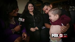 FOX5 Surprise Squad - Parents & Miracle Child With Rare Heart Condition Blessed With HUGE Gift!