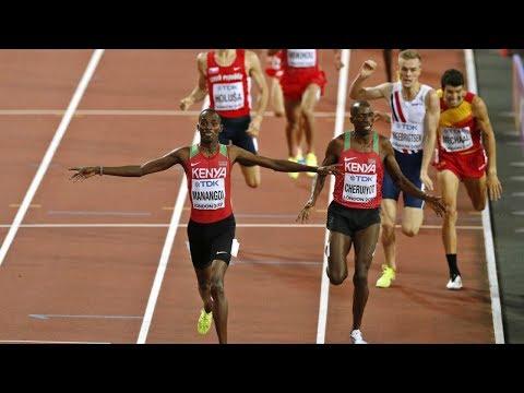 1500 m M - E Manangoi (KEN) guld - F Ingebrigtsen (NOR) brons - London - VM - 13 aug 2017