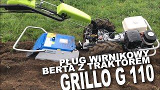 Pług wirnikowy Berta z traktorem jednoosiowym Grillo G 110