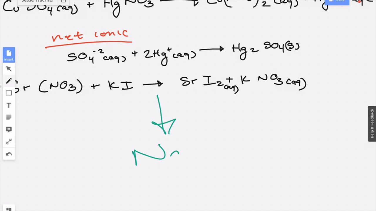 Find The Net Ionic Equation 4