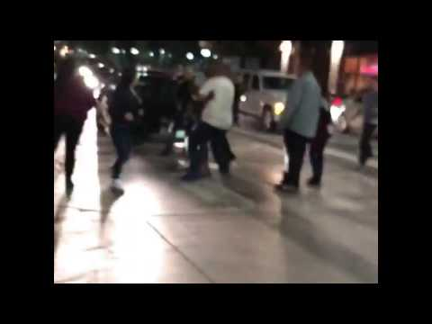 Los Angeles downtown fight
