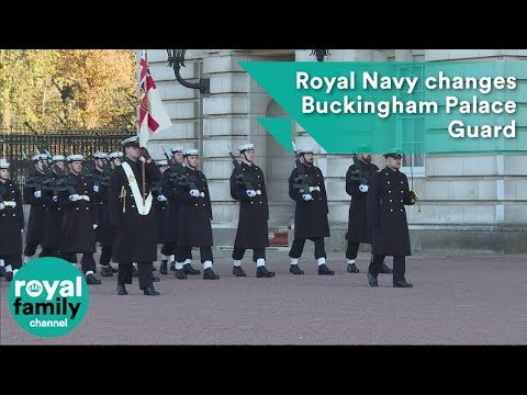 Royal Navy changes Buckingham Palace Guard for first time