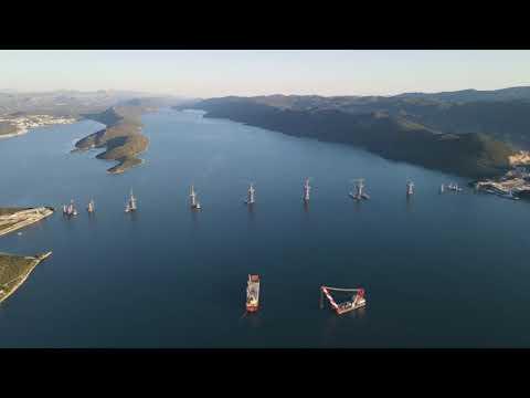 Pelješac-Brücke im Oktober 2020 horvát KÉT ÉVTIZED UTÁN: Hamarosan megépül a pelješaci híd, avagy mit adtak nekünk a rómaiak? hqdefault