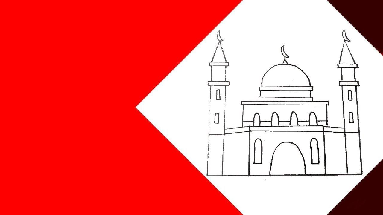 رسم رسم مسجد جامع خطوة بخطوة بسهولة Youtube