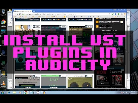 How to install VST plugins in Audacity