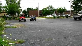2nd time on a 125d atv nathan challenges a 300cc