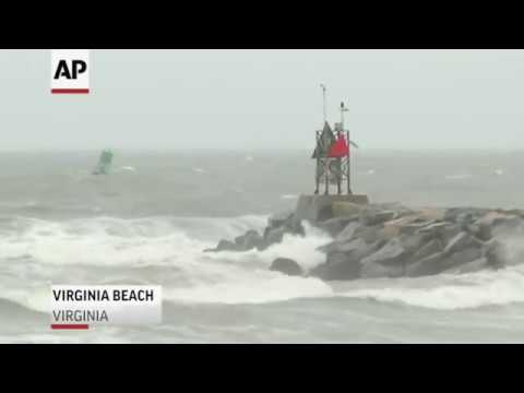 Florence\'s waves and wind reach Virginia Beach