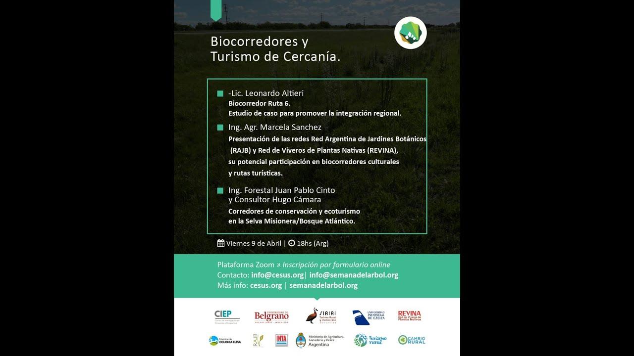 Reviví el 2do Webinar del Ciclo de Biocorredores y Turismo de Cercanía!