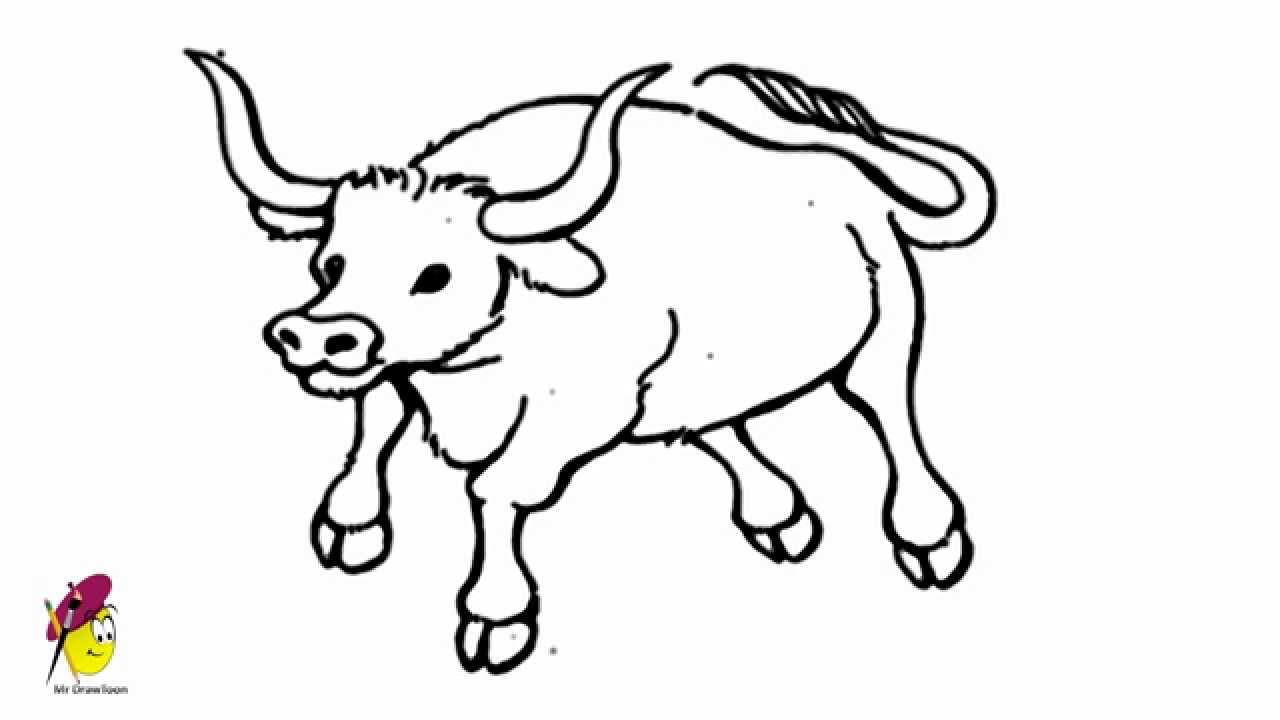 Uncategorized Drawings That Are Easy To Draw bull easy drawing how to draw a youtube