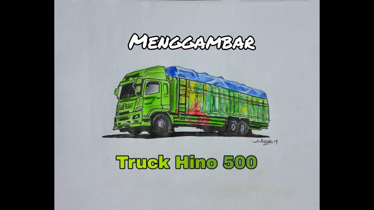 Truck Hino 500 Menggambar Truck Hino