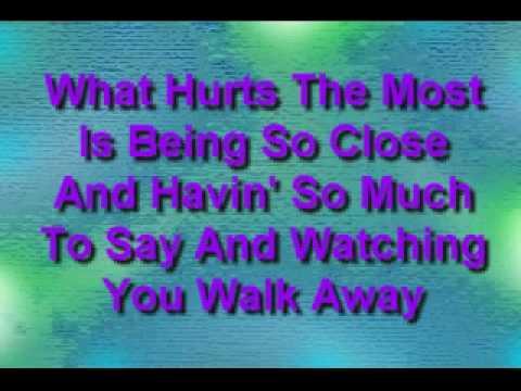 Rascal Flatts- What Hurts The Most **WITH LYRICS**