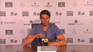Rafael Nadal Press conference / QF 2018 Madrid Open