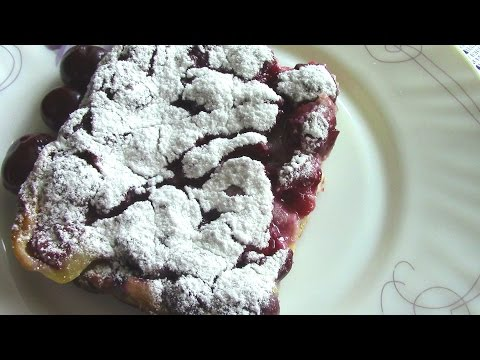 КЛАФУТИ с ВИШНЕЙ.  Простой рецепт французского  десерта.