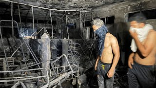 video: At least 82 killed in fire after 'oxygen tanks explode' at Covid hospital in Iraq