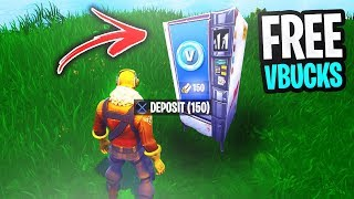 How To Get FREE VBUCKS from the *NEW* VENDING MACHINE! (Fortnite Vending Machine Gameplay)