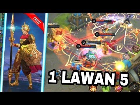 GILA HERO BARU MINSITTHAR !! DI KEROYOK 5 ORANG SUSAH MATINYA !!! - Mobile Legend Indonesia