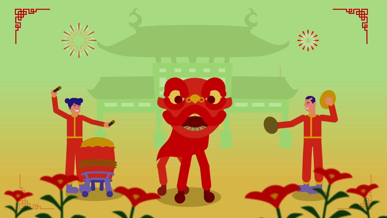 Lion Dance New Year Animation Youtube