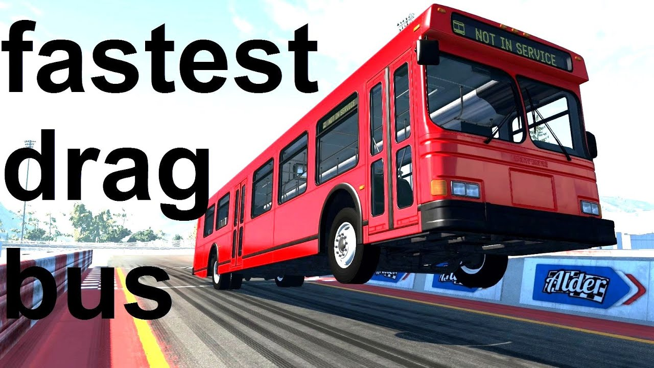 World's Fastest Drag Bus! BeamNG. Drive