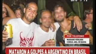 Mataron a un argentino en Brasil