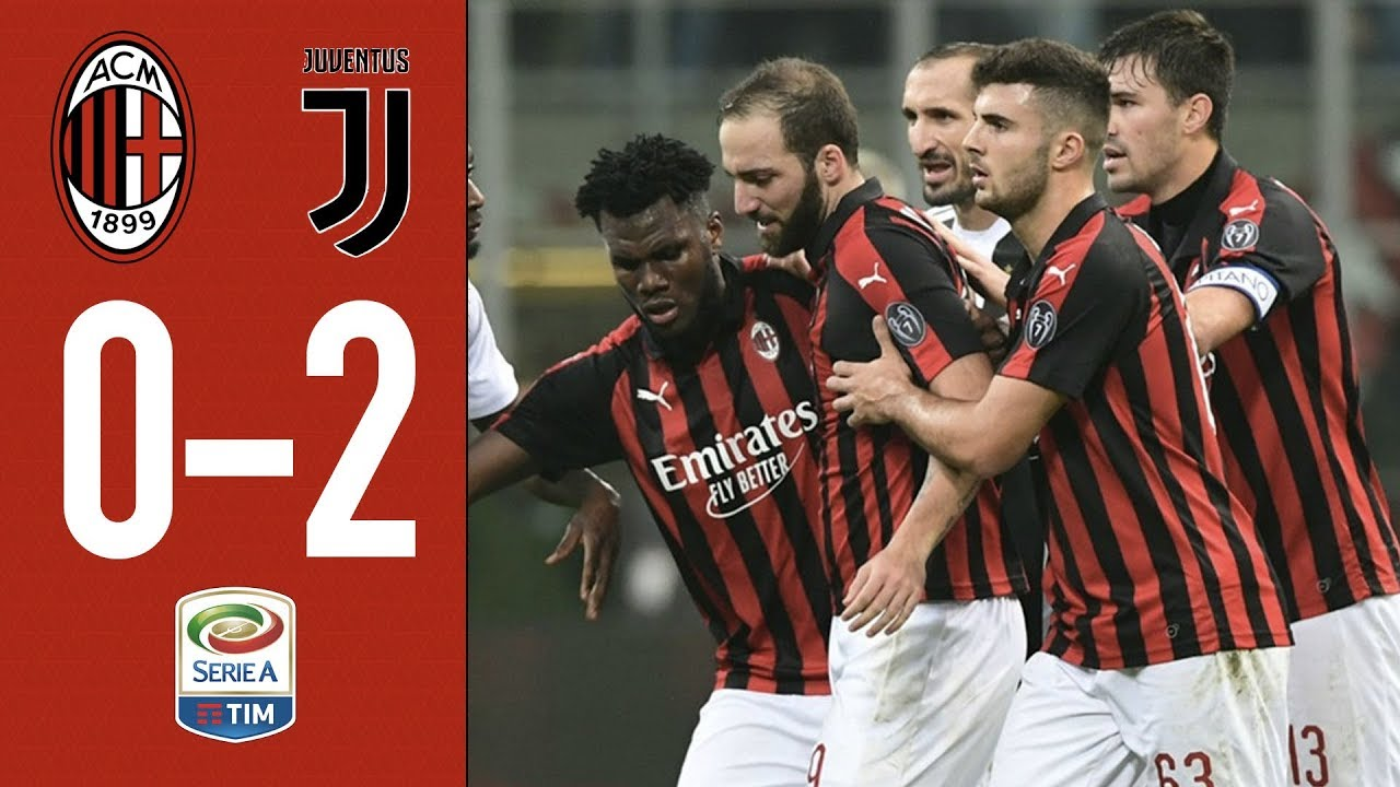 1994013f4 Highlights AC Milan 0-2 Juventus - Matchday 12 Serie A 2018/19 - YouTube