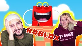 Roblox: From McDonald's escape! K + NINA BY THE HAPPY MEAL EATEN! McDonalds escape obby German