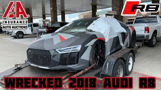 Download Rebuilding a Wrecked 2018 Audi R8 Part 1 Mp3 and Videos