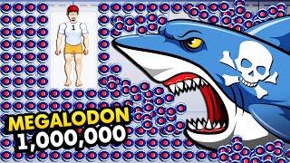 1,000,000 MINES vs MEGALODON SHARK