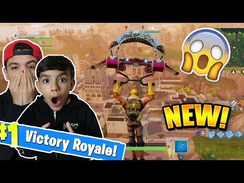 Exploring New Fortnite Map With Little Brother! Fortnite Battle Royale Duos With Little Brother!