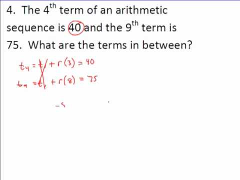 Arithmetic And Geometric Sequence Examples  Youtube