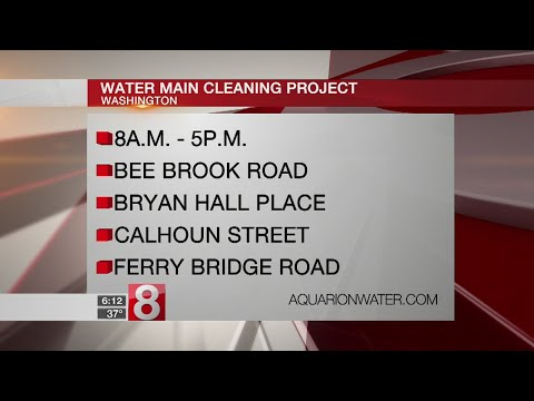 Cleaning project to impact Washington water mains Wednesday
