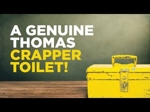 A Genuine Thomas Crapper Toilet!