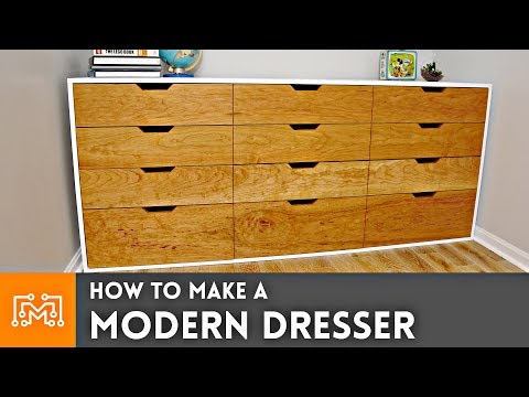 how-to-make-a-modern-dresser-//-woodworking