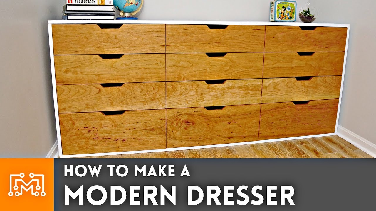 How To Make A Modern Dresser Woodworking Youtube
