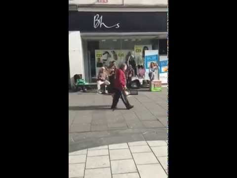 Buskers in Southampton today brilliant.