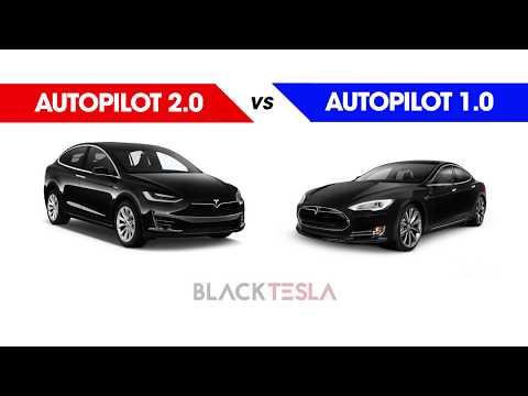 Tesla Autopilot 2.0 vs Autopilot 1.0 (Daytime)