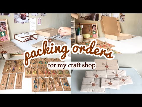 Packing Orders For My Small Business | Resin Craft Shop | Eco-friendly Packaging | Wax Seal Stamp