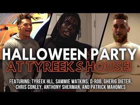 Costume Halloween Party at Tyreeks House! Patrick Mahomes the T-Rex