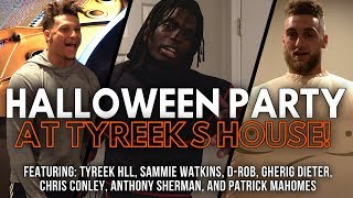 Costume Halloween Party at Tyreek's House! Patrick Mahomes the T-Rex thumbnail