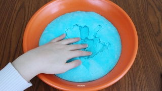 How to Make Iceberg Slime! DIY Crunchy Fluffy Slime!