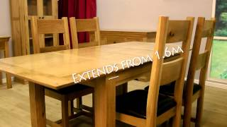 Constance Oak Dining Table And Chairs