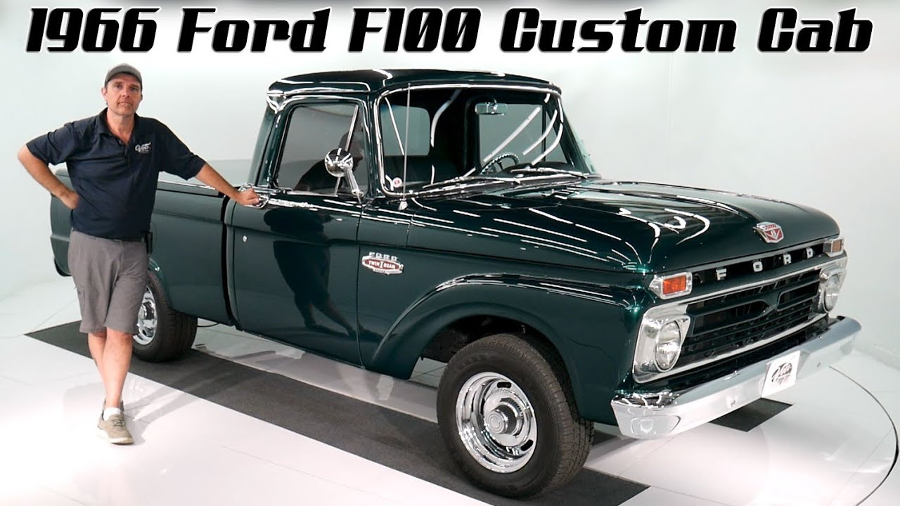 V18190 1966 Ford F100 Custom Cab Youtube