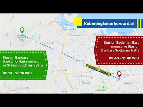 Motion Grafis Kereta Bandara Resmi Beropreasi Indonesia Baik