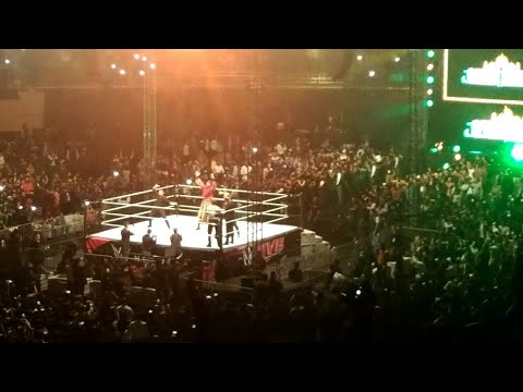 Live entrance of Jinder Mahal from Wwe Live Event in India 2k17