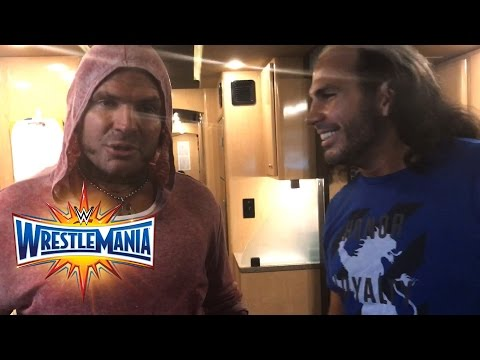 Thumbnail: WWE talks to The Hardy Boyz moments before their return: WrestleMania Exclusive, April 2, 2017
