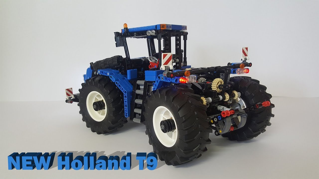 lego technic new holland t9 tractor moc youtube. Black Bedroom Furniture Sets. Home Design Ideas