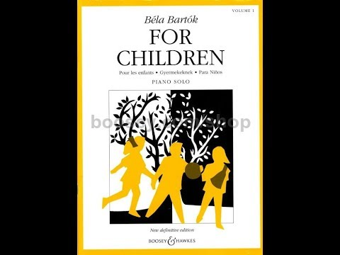 Béla  Bartók For  Children Vol. 1 Completo