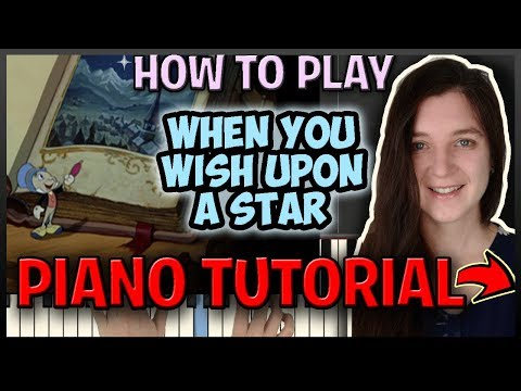 """How To Play """"WHEN YOU WISH UPON A STAR"""" [Pinocchio] - Easy Piano (Synthesia) [Piano Tutorial] [HD]"""